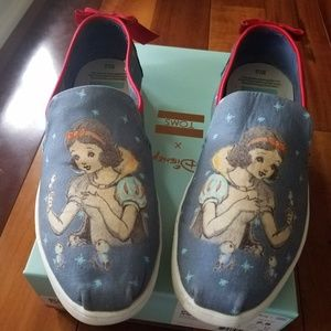 Size 7 and 1/2 Disney canvas Toms